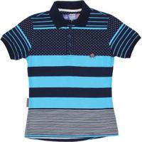 Camisa Polo Rodeo Western 22640 Feminina - Feminino-Azul