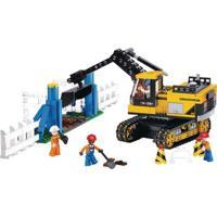 Blocos De Montar Construção Caminhão Escavadeira - Sluban Slub0551