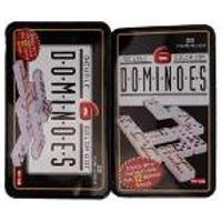 Jogo De Domino Mexicano Double 6 - Estojo Em Lata Decorado