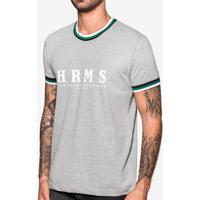 Camiseta Hrms Mescla Gola Listrada 103739