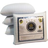 Travesseiro Látex De Poliuretano Antialérgico King Cestari 1 Peça