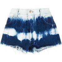 Alanui Short Jeans Tie-Dye - Azul