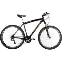 Bicicleta Aro 29 Suspensão Diant 21V Preta E Amarelo Track Bikes