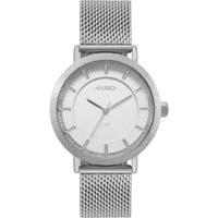 Relógio Euro Construções Feminino - Feminino-Prata