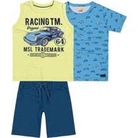 Conjunto Infantil Marisol Masculina - Masculino-Azul