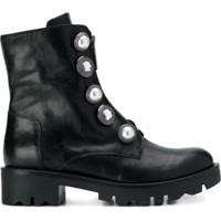 Tosca Blu Button Embellished Boots - Preto