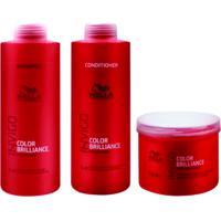 Kit Shampoo Condicionador E Máscara Wella Collor Brilliance Invigo