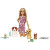 Boneca Barbie Treinadora De Cachorrinhos Rosa