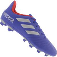 ... Chuteira De Campo Adidas Predator 19.4 Fxg - Adulto - Azul 5c3f4de4b8a7e