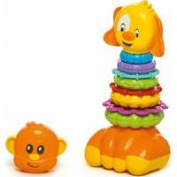 Brinquedo Calesita Zoo Argolas Para Montar Multicolorido