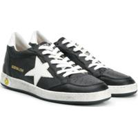 Golden Goose Kids Ball Star Star Patch Sneakers - Preto