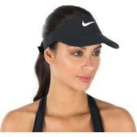 Viseira Nike Aerobill - Adulto - Preto/Branco