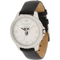 Karl Lagerfeld Karl Ikonik Leather Watch - Preto