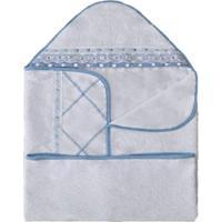 Toalha De Banho I9 Baby Elegance Azul - 1 Peça.