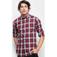 4194fbd07e66e7 Camisa Xadrez Manga Longa Tommy Jeans Essential Multi Check Shirt Masculina  - Masculino-Xadrez
