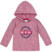 """Camiseta """"Day By Day""""- Vinho & Branca- Baby- Herhering"""