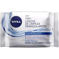 Lenços De Limpeza Facial Refrescante Nivea Com 25 Unidades