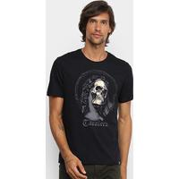 Camiseta Cavalera Skull Statue Masculina - Masculino-Preto