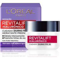 Creme Anti-Idade Revitalift Hialurônico Diurno Fps 20 L'Oréal Paris Único