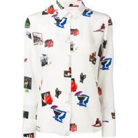 Ps Paul Smith Camisa Com Estampa Paul'S Scrapbook - Branco