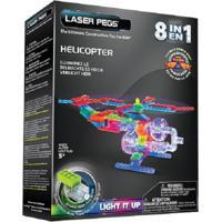 Blocos De Montar Laser Pegs Helicóptero 8 Em 1 Azul - Kanui