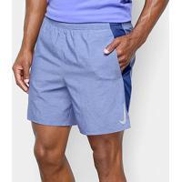 "Bermuda Nike Dri-Fit Challenger 7"" Bf Masculino - Masculino-Azul"