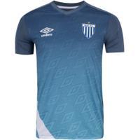Camisa De Treino Do Avaí 2020 Umbro - Masculina - Azul/Branco