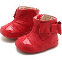 Bota Bibi Menina Laço Vermelha