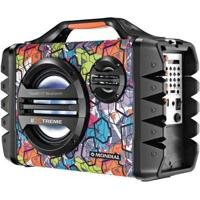 Caixa De Som Amplificadora Mondial Multi Connect Thunder Vi Extreme 120W Portátil Mp3 - Unissex