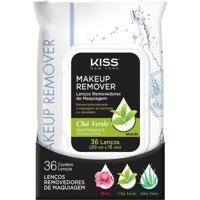 Lenços Demaquilante Kiss Chá Verde Adstringente 36 Lenços
