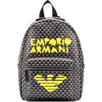 Emporio Armani Kids Mochila Com Estampa Monogramada - Azul