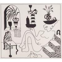 Lenço Carré Bauhaus Muse Hana Khalil - Bege