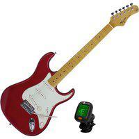 Guitarra Strato Woodstock Tagima Tg530Mr Vermelho + Afinador Nucleo