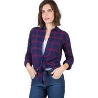 Camisa De Tecido Xadrez Taco Feminina - Feminino