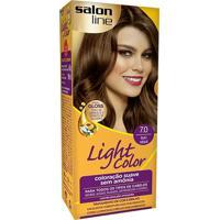 Tintura Creme Salon Line Light Color Louro Natural 7.0 Kit