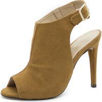 Sandália Shoes Inbox Sandal Boot Salto Fino Feminina - Feminino-Caramelo