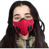 Máscara Lavável N95 Com Filtro De Carvão Anti-Poluição - Vermelho