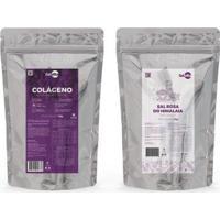 Kit Colágeno Hidrolisado Puro 1Kg + Sal Himalaia 1 Kg - Unissex