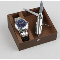 Kit De Relógio Analógico Mondaine Masculino + Canivete - 78756G0Mvns2K Prateado - Único