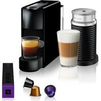Máquina De Café Nespresso Essenza Mini C30 Preta Com Aeroccino 3 127V