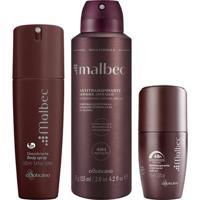 Combo Malbec : Desodorante Aerosol + Desodorante Rollon + Body Spray