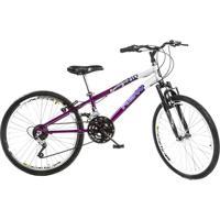 Bicicleta Rbw Special Grip - Aro 24 Branca E Roxa 21 Marchas - Feminino