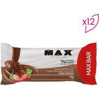 Barra Proteica Max Bar - Morango - 12 Unidades -Probiotica