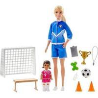 Boneca Barbie Treinamento De Futebol Com Acessórios - Feminino-Colorido