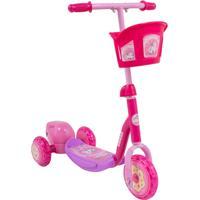 Patinete Infantil Bubble Bel Sports Solta Bolhas De Sabão Rosa