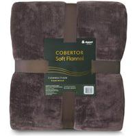 Cobertor Soft Flannel Cationic Casal 1,80X2,20 - Chocolate - Appel