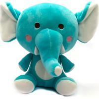 Pelúcia 20 Cm - Elefantinho Azul - Love