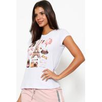 Camiseta Paris- Branca & Rosaclub Polo Collection