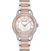 244b3711e8e Relógio Bulova Feminino Aço Prateado E Rosé - 98L246