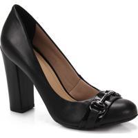 Sapato Salto Feminino Lara - Preto